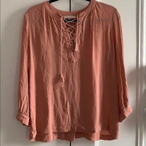 Madewell pink lace up